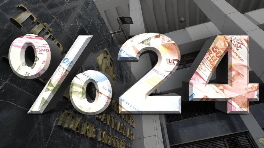 Türkiye Cumhuriyet Merkez Bankası politika faizini yüzde 24 oranında sabit tuttu.