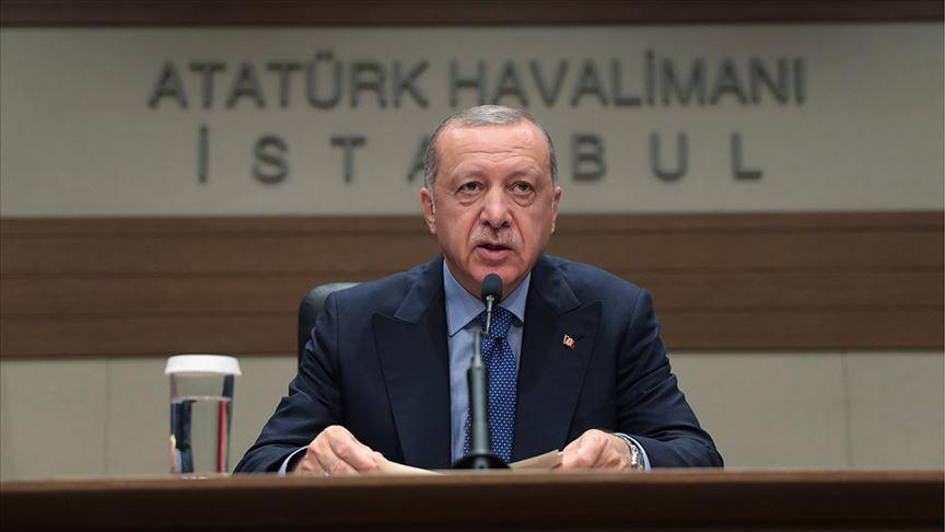 Erdoğan:Doğu Akdeniz'deki rahatsız edici sesler yolumuzdan alıkoyamayacak