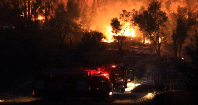 Muğla'daki orman yangını için İki köy boşaltıldı