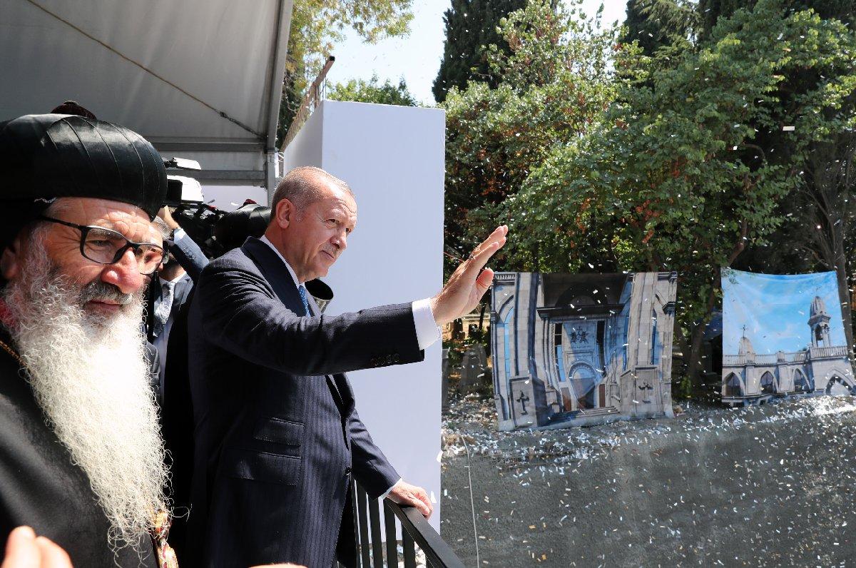 Cumhurbaşkanı Erdoğan Süryani Kilisesi nde konuştu
