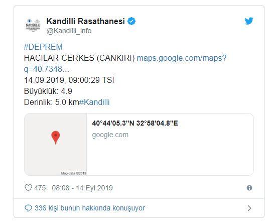 Çankırı'da ki Depremler Ankara ve çevre illerde de hissedildi.