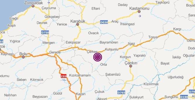 Çankırı'da bu sabah iki deprem meydana geldi .
